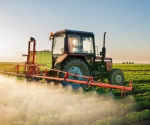 Pesticide application in field